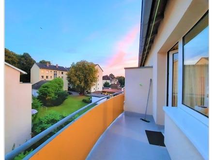 Helle 2 Zimmer Wohnung mit TGL-Bad mit Blick ins Grüne