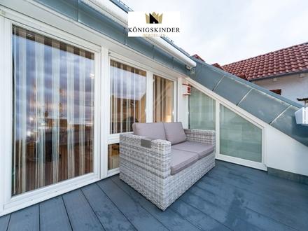 Helle 5,5 Zimmer Maisonette-Wohnung mit Dachterrasse und 2 TG-Stellplätzen