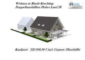 Neubauvorhaben linke Doppelhaushälfte in Rhede-Krechting