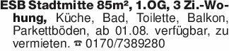 ESB Stadtmitte 85m², 1.OG, 3 Z...