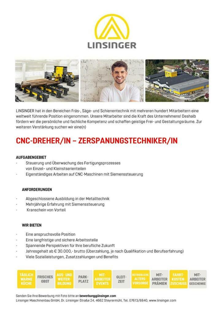 - Steuerung und Überwachung des Fertigungsprozesses  von Einzel– und Kleinstserienteilen - Eigenständiges Arbeiten auf CNC-Maschinen mit Siemenssteuerung