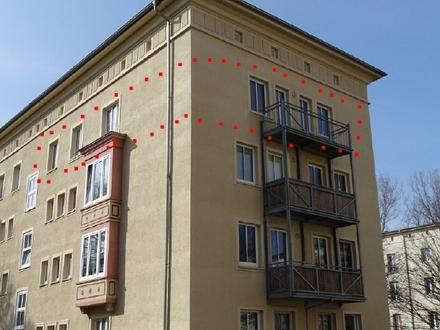 3 Raum Wohnung im Zentrum + Balkon + Wanne + Bodenkammer