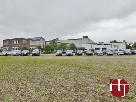Gewerbegebiet Dreye: Hallen-, Büro- und Freifläche in guter Sichtlage!