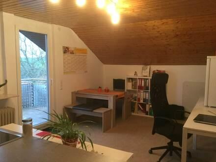 2 Zi DG-Wohnung mit Balkon in Birenbach, mit schöner Aussicht