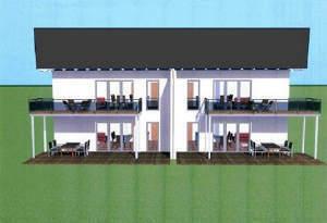 3 Zi.-Wohnung im OG links mit Balkon im 4-Familienhaus