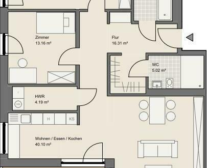 NEUBAU: Exklusive 3-Zimmer-Wohnung in Goldbach mit überdachtem Balkon