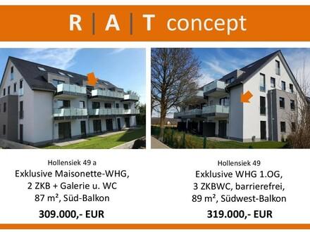 Noch 2 exklusive Neubau-Eigentumswohnungen