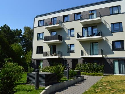 Praktisch geschnittene 4-Zimmer Neubauwohnung mit 2 Balkonen im Innenhof an der Alsterkrugchaussee
