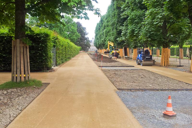 Saule Projekt Schlosspark Pillnitz Wegebau