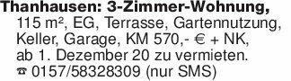 Thanhausen: 3-Zimmer-Wohnung,...