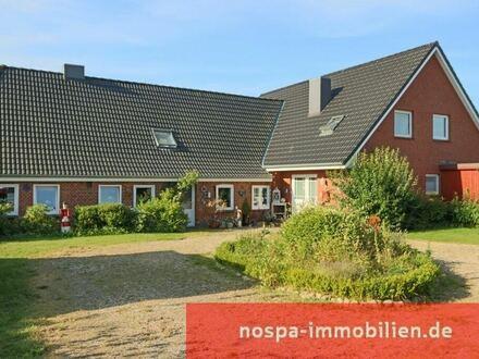 Großzügiges Zweifamilienhaus mit 2 Doppelcarports, Terrassen und viel Nutzfläche in Husum-Lund