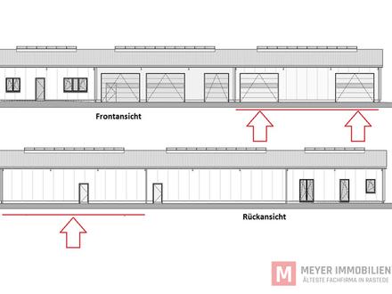 Neubau - Hallenflächen im Gewerbegebiet von Rastede zu vermieten (Objekt-Nr. 5758)