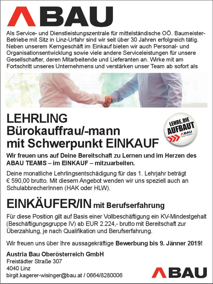 Als Service- und Dienstleistungszentrale für mittelständische OÖ. Baumeister- Betriebe mit Sitz in Linz-Urfahr sind wir seit über 30 Jahren erfolgreich tätig. Neben unserem Kerngeschäft im Einkauf bie