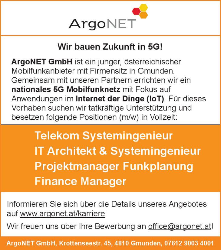 ArgoNET GmbH ist ein junger, österreichischer Mobilfunkanbieter mit Firmensitz in Gmunden. Gemeinsam mit unseren Partnern errichten wir ein nationales 5G Mobilfunknetz mit Fokus auf Anwendungen im Int