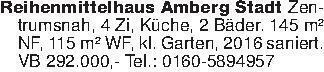 Reihenmittelhaus Amberg Stadt...