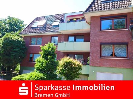 Vermietete 2-Zimmer-Eigentumswohnung mit Balkon im Dachgeschoss in zentraler Lage von Lüssum