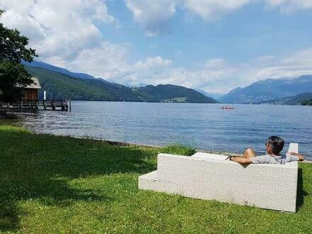 RARITÄT ! FERIEN-HAUS (Mobilhome) am SEE mit Badestrand am Ostufer des Millstätter See, Kärnten
