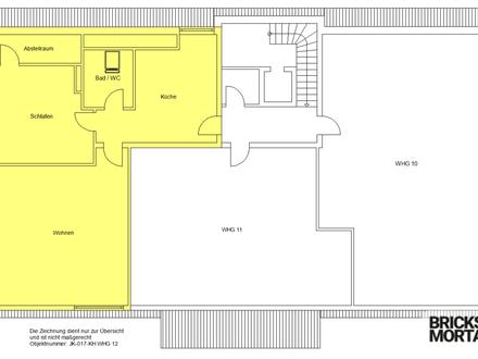 Wohnen im Alter! Sanierte 2-Zimmer-Wohnung gegenüber Tagespflege! 83m²!