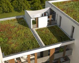Visualisierung Dachterrasse Wohnung 5.10