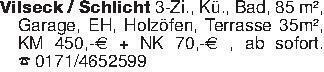 Vilseck / Schlicht 3-Zi., Kü.,...