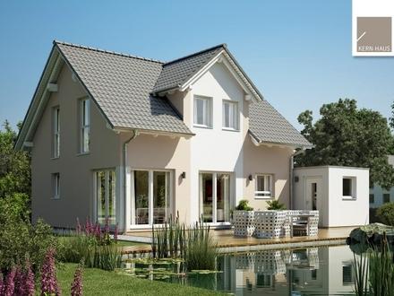 Klassisches Familienhaus mit Gaube und Eckverglasung!
