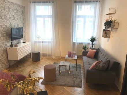Kurzzeitmiete ab 1 Monat bis max. 6 Monate- Pauschalpreis - top ausgestattete, schicke 42 m² Wohnung in historischem Ambiente