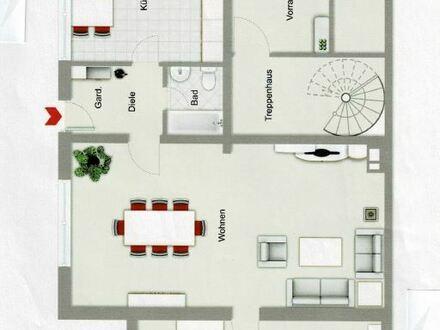 Herbern, 3 Zi., 84 m², zentr., ruh., Sout.-Whg. m. sep. Eingang + Garage, KM 375 € + NK. EA