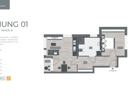 ZENTRAL. GRÜN. LEBENSWERT LANDSHUT 034 Haus A Nr.01 - Erdgeschoss 2-Zimmer