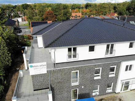 Neubau/Erstbezug: Helles Penthouse! Mit Fußbodenheizung, Dachterrasse und Einbauküche!