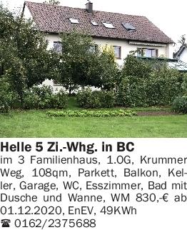 Vermietung 4-5 Zimmer-Wohnungen