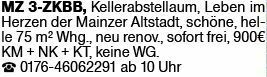 3-Zimmer Mietwohnung in Mainz (55116)