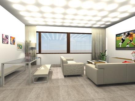Der Wohnraum mit Essplatz