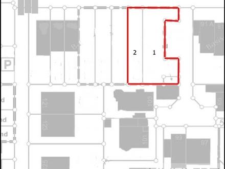 Baugrundstücke für zwei Reihenhäuser