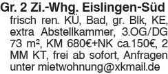 Gr. 2 Zi. Whg. Eislingen Süd