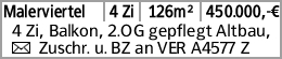 Malerviertel 4 Zi 126m² 450.000,-€ 4 Zi, Balkon, 2.OG gepflegt Altbau,...