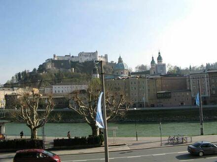 Traumhafter Ausblick! herrschaftliche 4 Zimmer Stadtwohnung mit Balkon an der Salzach Salzburg Stadt