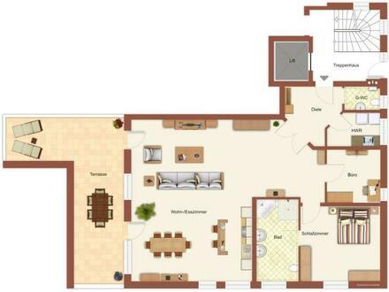 Leer-Nesse ! Ebenerdige Erdgeschoss- Eigentumswohnung mit zwei Stellplätzen (Außen & Tiefgarage)