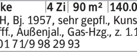 Anzeigentitel RMH, Bj. 1957, sehr gepfl., Kunststofff., Außenjal., Gas-Hzg.,...