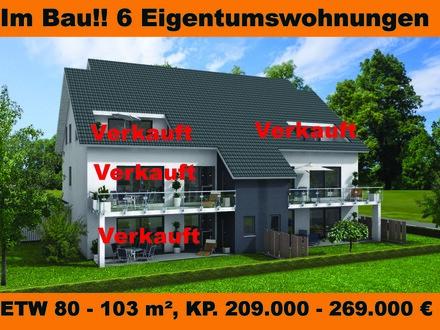 Neubau Eigentumswohnung, Obergeschoss in Bünde Zentrumsnah!