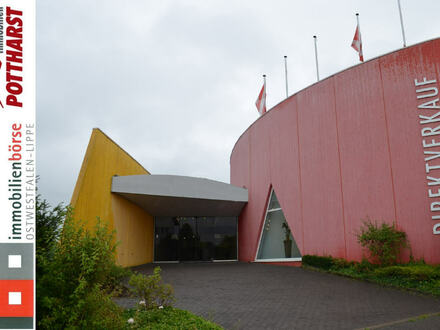 Vielseitig nutzbare Verkaufsfläche/ Showroom/ Outlet inkl. Lagerhalle in Bad Salzufler Gewerbegebiet!