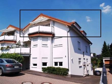 Sonniges DG, 94 qm, 3 Zi, 2 Bäder, 2 Terrassen, EBK, Garage, Keller, Waschraum, ruhige Lage