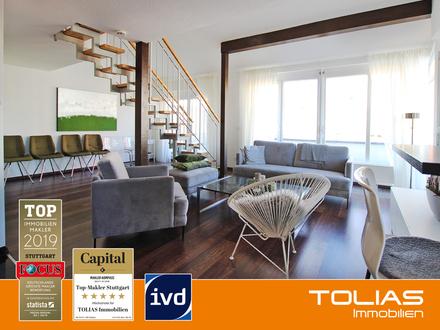 Zeitgemäße Wohnideen - Exklusive Penthouse-Wohnung mit sehr großer Dachterrasse und TG-Stellplatz