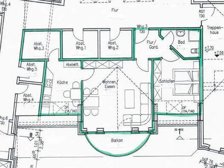 Dachgeschosswohnung in zentraler Lage von Haselünne