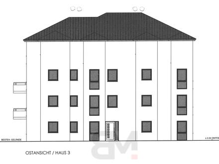 3-Zimmerwohnung mit 93,91 qm im EG mit Terrasse und Garten