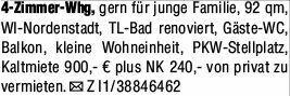 4-Zimmer Mietwohnung in Wiesbaden (65195)