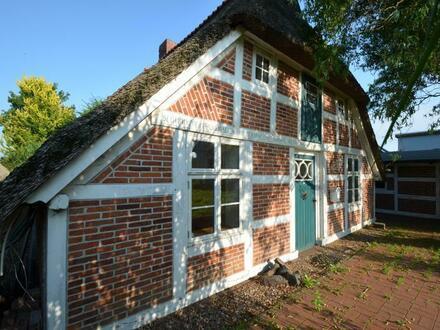 Uriges Wohnhaus unter Reet am Weserdeich