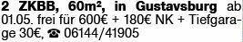 2-Zimmer Mietwohnung in Ginsheim-Gustavsburg (65462)