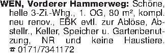 WEN, Vorderer Hammerweg: Schön...