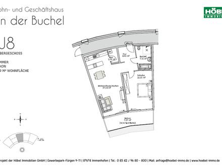 Hochwertige, barrierefreie Neubau-Whg., 2 ZKB mit Balkonanteil - Erstbezug