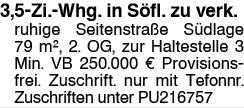 3,5 Zi. Whg. in Söfl. zu verk.